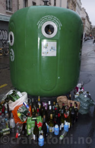 Glass recycling in Paris