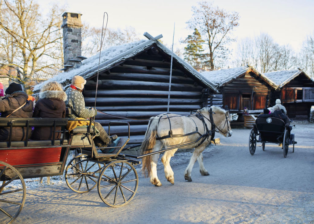 Christmas fair at Norsk Folkemuseum Foto: Hakon Harris